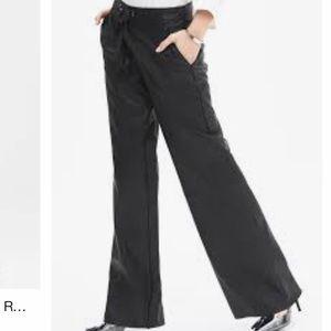 BR Monogram Faux Leather Wide Leg Pant
